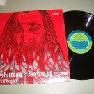 Walt Whitman - Leaves Of Grass read by Ed Begley - Record LP