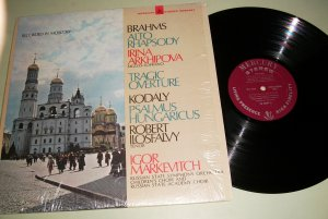 Igor Markevitch - Brahms: Alto Rhapsody - Kodaly:  Psalmus Hungaricus SR90467 Record LP