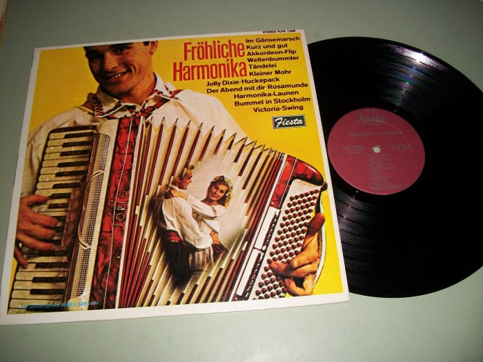 Frohliche Harmonika - German Accordian Music - FIESTA 1568 - Record LP
