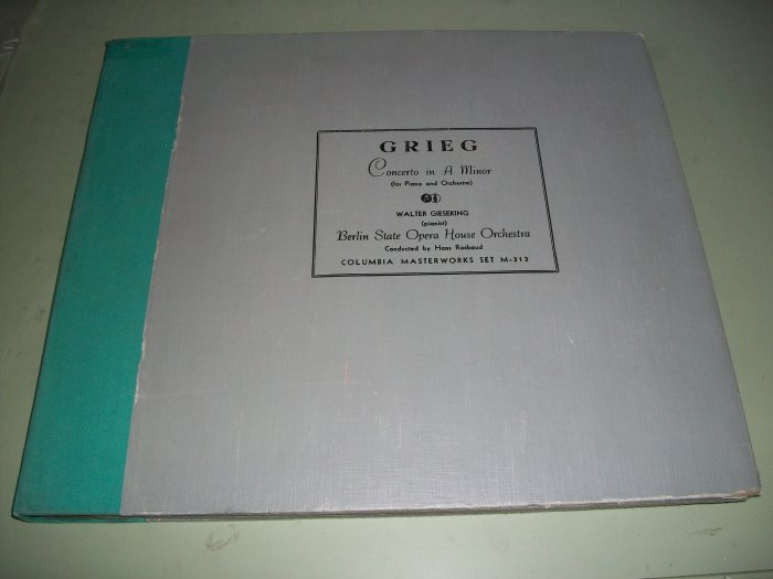 Grieg - Concerto in A - Walter Gieseking - 78 rpm - 4 Record Set