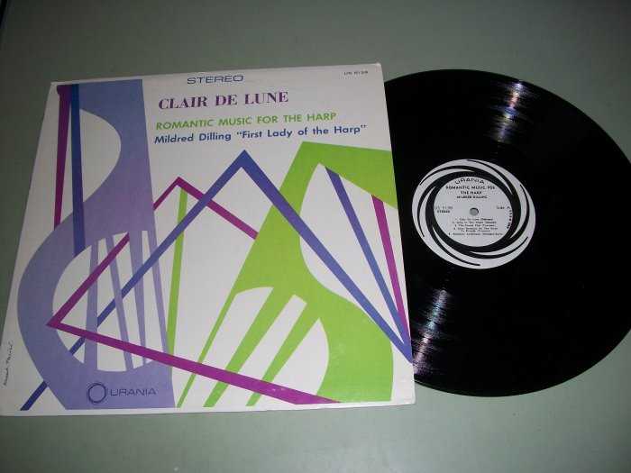 Mildred Dilling - Clair De Lune - Harp Music - URANIA 5138 Record LP