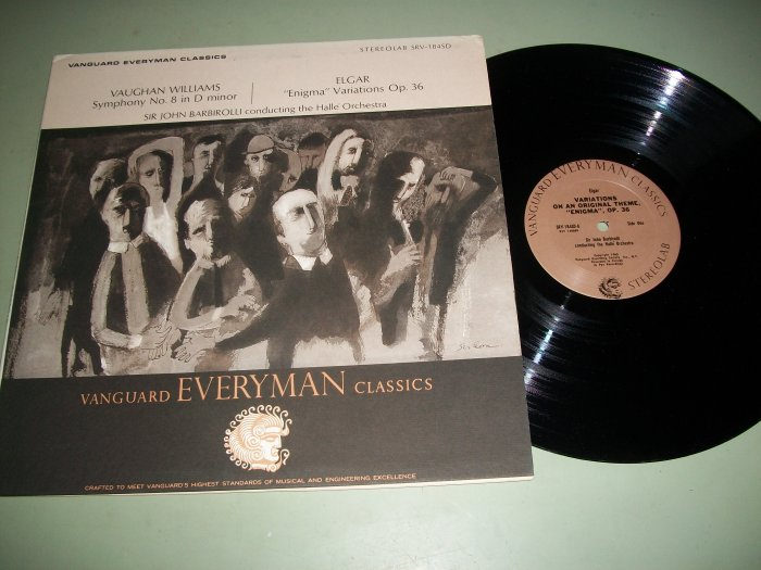 Vaughan Williams / Elgar - Sir John Barbirolli - Classical Record LP
