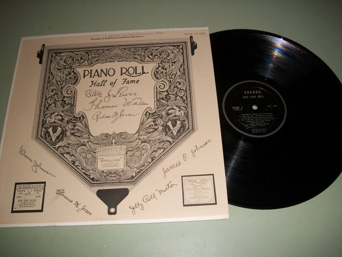 Piano Roll Hall Of Fame -Various Artist - Jazz Record LP