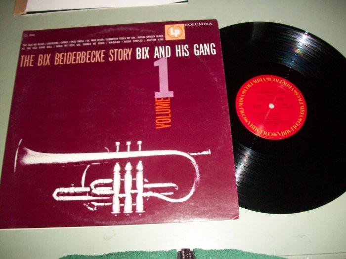 The Bix Beiderbecke Story Vol. 1 - Bix And His Gang - Jazz Record LP