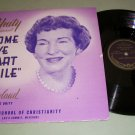 "May Rowland - Come Ye Apart Awhile - UNITY LS 500 - 10"" Christian Record"