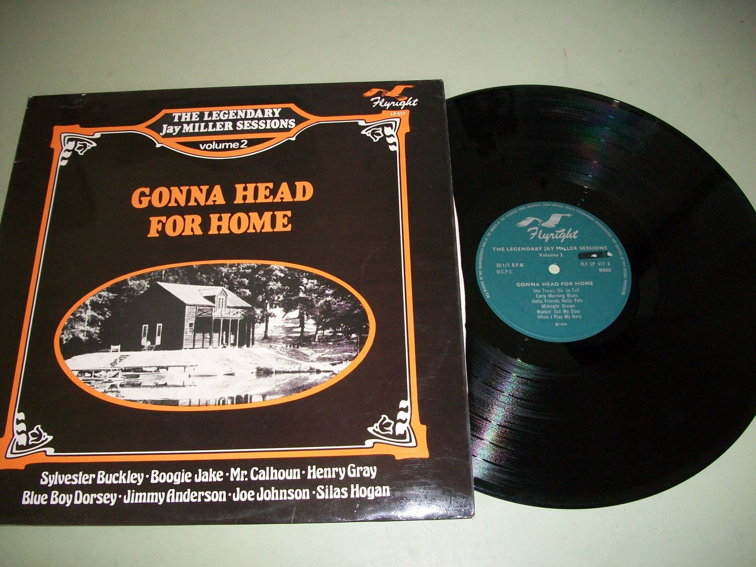 Jay Miller Sessions Vol. 2 - Gonna Head For Home - FLYWRIGHT 517 Blues Record LP