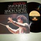 Janacek Sinfonietta Taras Bulba Simon Rattle - Classical Record LP