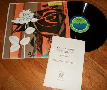 Don Juan Tenorio Jose Zorilla CAEDMON 2002 Record LP