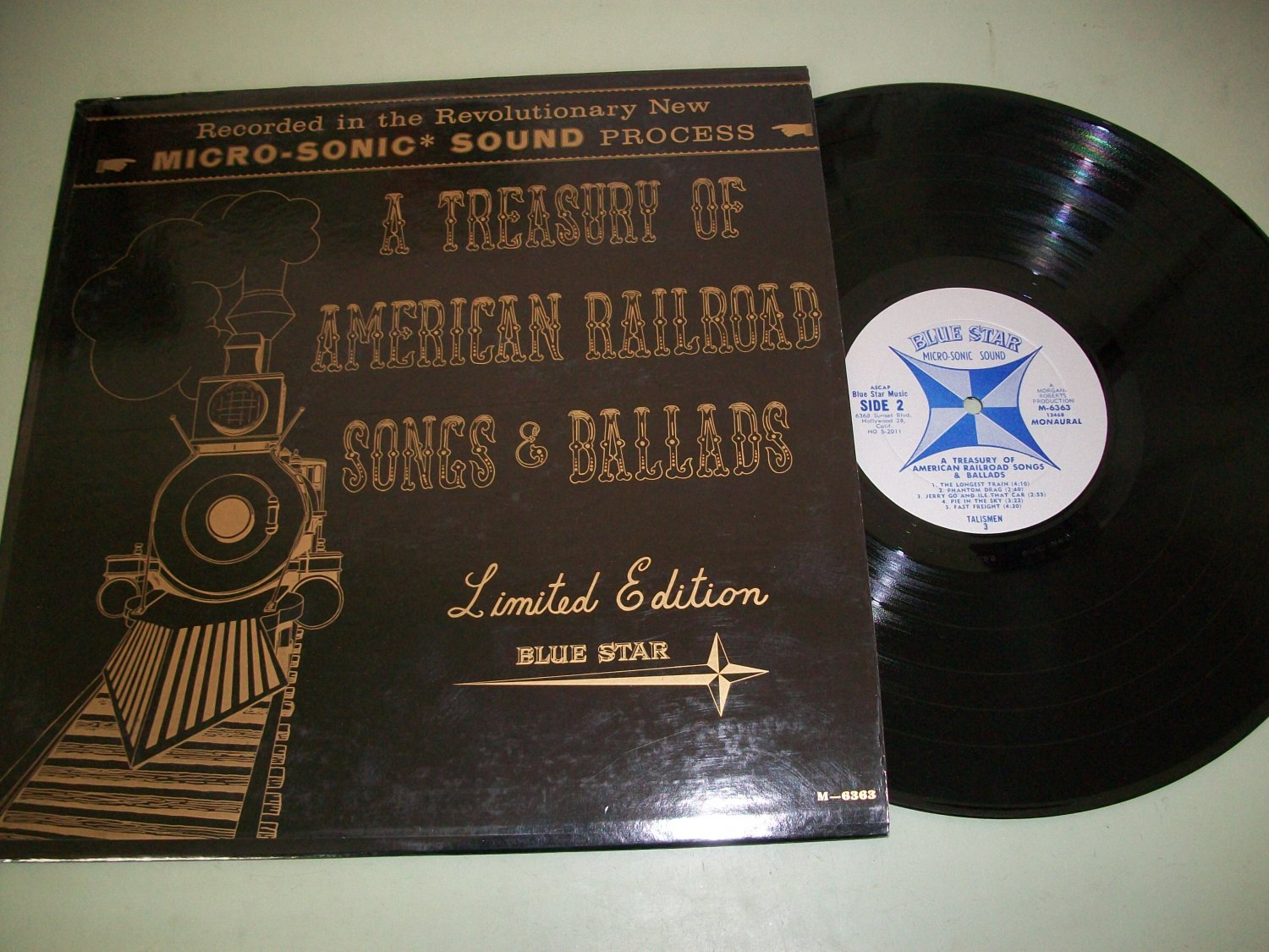 The Talismen 3 - American Railroad Songs And Ballads - BLUE STAR 6363 Record LP