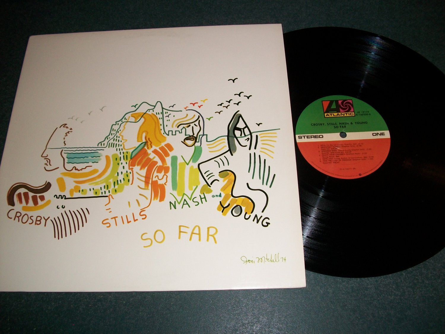 Crosby Stills Nash And Young - So Far - Record LP