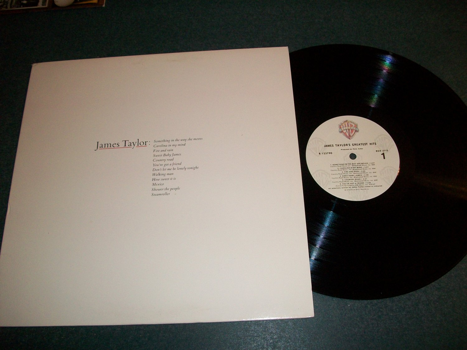 James Taylor Greatest Hits  - Record LP