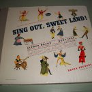 Sing Out Sweet Land - Burl ives Original Cast - 6 Record Album Set  78 rpm