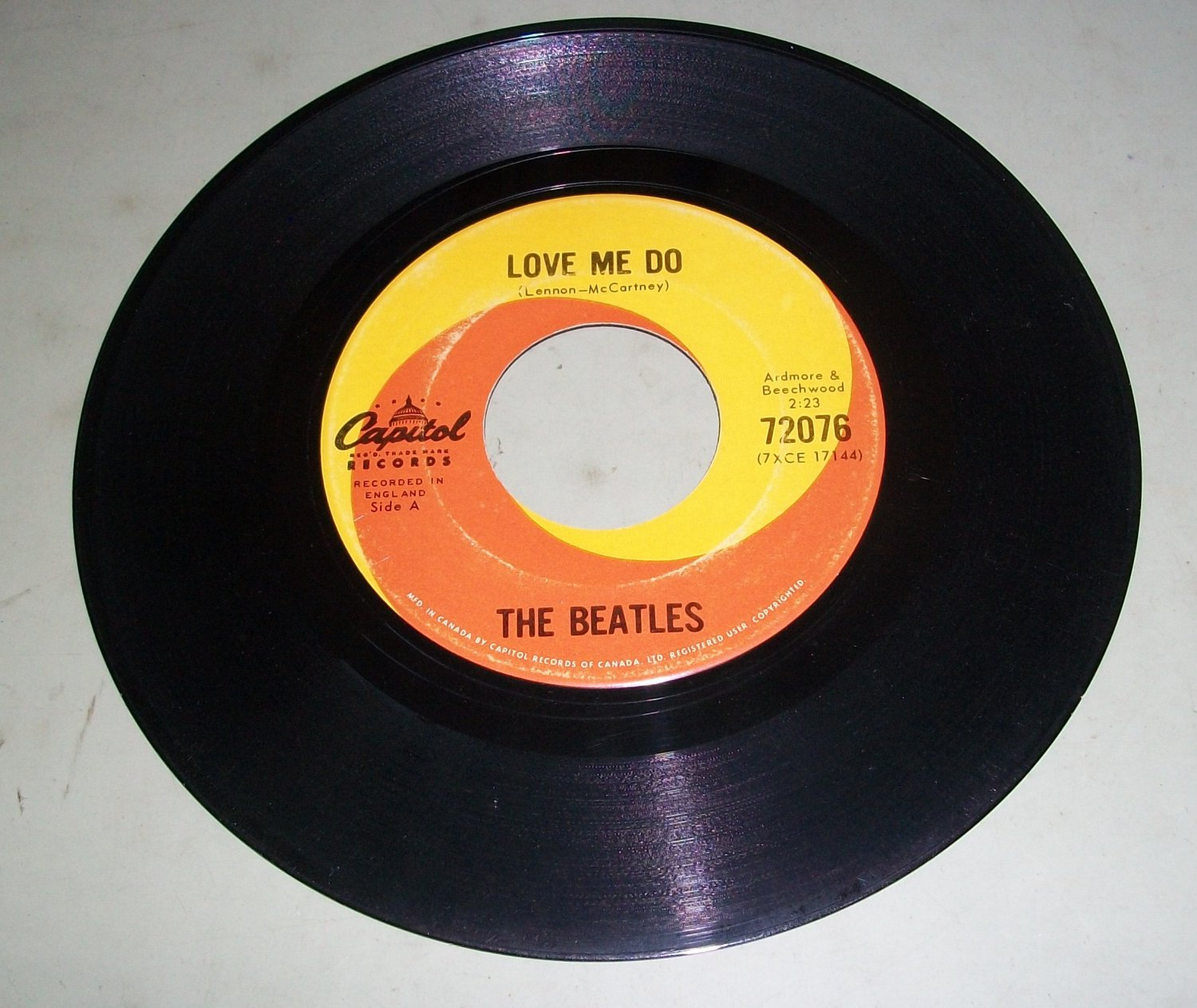 The Beatles Love Me Do P S I Love You Capitol 72076
