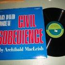 Henry David Thoreau - Civil Disobedience - Record LP