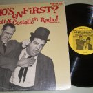 Abbott & Costello - Who's On First - Old Time Radio Record LP