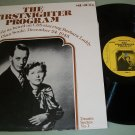 The Firstnighter Program / Grand Central Station - Old Time Radio -  Record LP