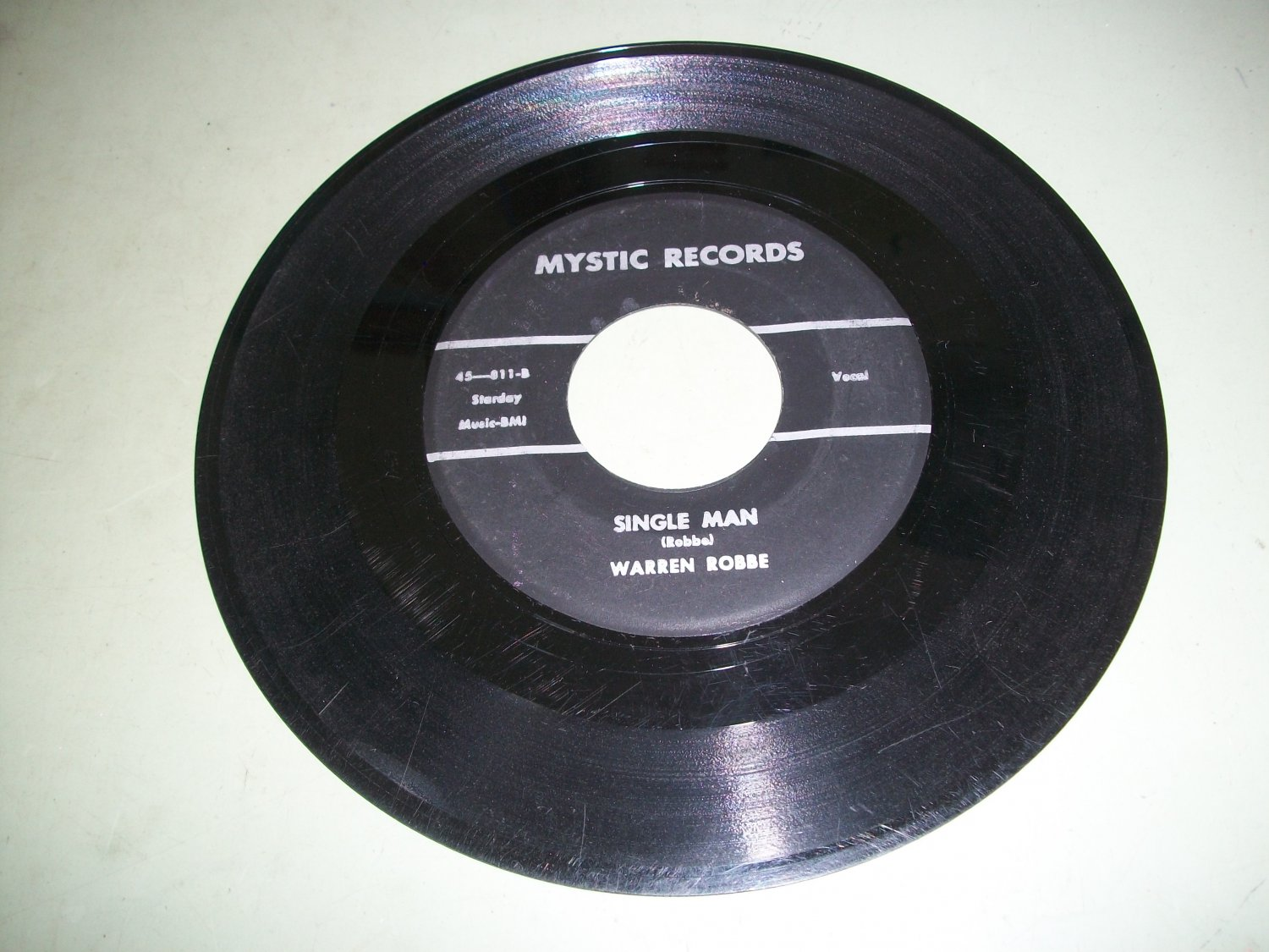 Warren Robbe - If I Had My Dreams To Build Over - MYSTIC 811  RARE Rockabilly  45 rpm
