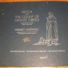 The Count Of Monte Cristo - Herbert Marshall - DECCA  337 - 4 Record Album Set  78 rpm