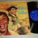 Dinah Washington - Sings Fats Waller - EmArcy 36119 - Jazz   LP