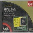 Beethoven & Mendelssohn Violin Concertos - Yehudi Menuhin / Wilhelm Furtwangler  - Classical  CD
