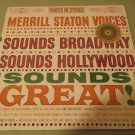 Merrill Staton Voices - Sounds Broadway Sounds Great - EPIC 604 - SEALED LP