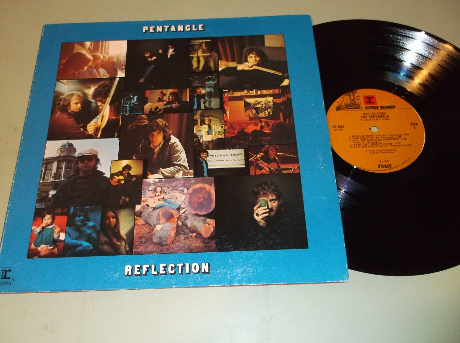 Pentangle - Reflection - REPRISE 6463 - Folk Rock  LP