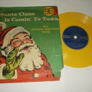 Santa Claus Is Comin' To Town GOLDEN 47 Childrens Christmas Record
