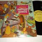 Disney's Happiest Songs  DISNEYLAND DL-3509  Soundtrack Record