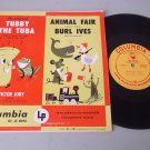 "Tubby The Tuba & Animal Fair 10"" Record COLUMBIA JL 8013 Burl Ives 1950 Issue"
