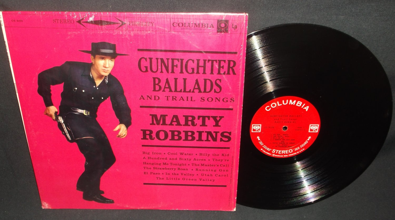 Marty Robbins - Gunfighter Ballads -  COLUMBIA 8158 - Country Record LP