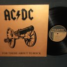 AC/DC - For Those About To Rock - ATLANTIC 11111 - Rock Record LP