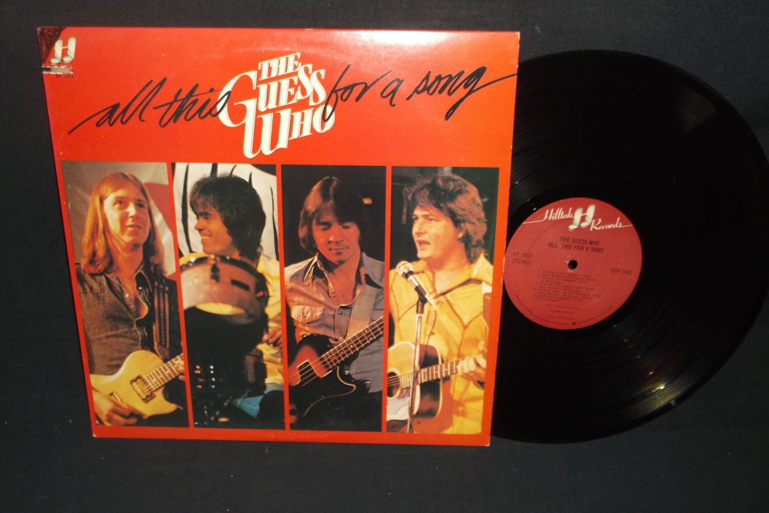 The Guess Who  All This For A Song   HILLTAK 19227 - Rock Record  LP
