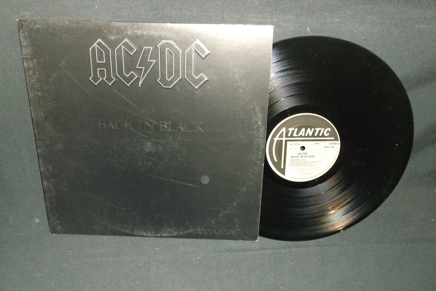AC/DC - Back In Black - ATLANTIC 16018 - Rock Record LP
