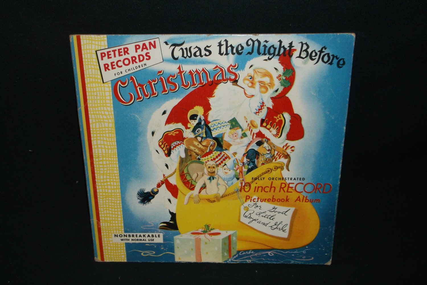 Twas The Night Before Christmas Book - Nino Carbe Art    LP