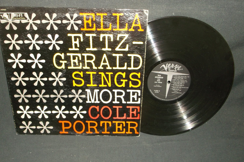 Ella Fitzgerald Sings More Cole Porter  VERVE 4050  Jazz  Record  LP