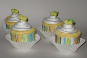 Sweet Diaper Cupcakes - Set of 4