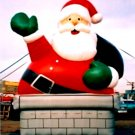 CHIMNEY SANTA CHISTMAS HOLIDAYS DECORATIONS NOT A GEMMY AIR BLOWN INFLATABLES BALLOONS GIFTS SIGNS