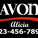 "Avon Removable Cling Decal 12"" X 6"""