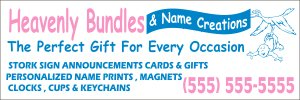 Custom Banner Made to Order 2'x6' One Sided