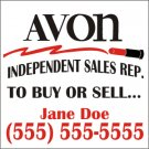 Avon 12x12 Small Magnetic Car Signs  (vehicle Sign Magnet)  Style 1