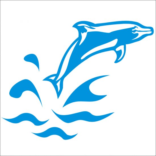 Jumping Dolphin Vinyl Graphic Decal Sticker For Car Truck Or Van Window