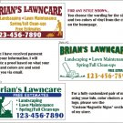 Lawn Care Service Magnet Signs Magnetic Sign Vehicle Magnets Removable 12x24