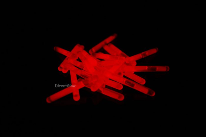 1.5 inch Mini RED Glow Stick- 50 per package