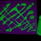8oz Yellow Blacklight Reactive Fluorescent Tempera Paint