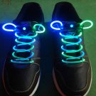 BiColor LED Lighted Shoelaces- Blue/Green