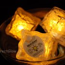 Set of 6 Yellow Litecubes Brand Light up LED Ice Cubes