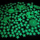 150+ Piece Glow in the Dark Stars Super Glowing Galaxy Set
