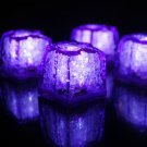 Set of 4 Litecubes  Brand Jewel Color Tinted Amethyst Purple Light up LED Ice Cubes