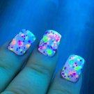 UV Blacklight Reactive Neon Glitter Nail Polish- Clowning Around