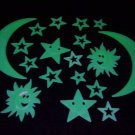 18 Piece Glow in the Dark Smile Stars & Suns